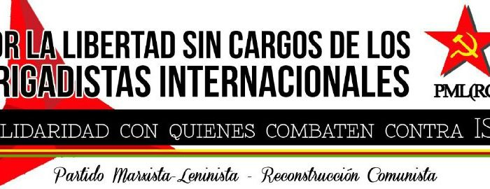 Cartel Libertad Sin Cargos Brigadistas Internacionales