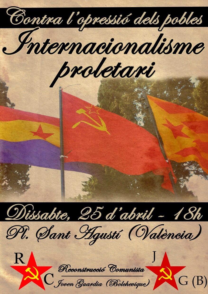 Cartel Diada Internacionalismo Proletario