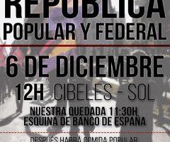 Cartel Manifestación Por La Republica En Madrid
