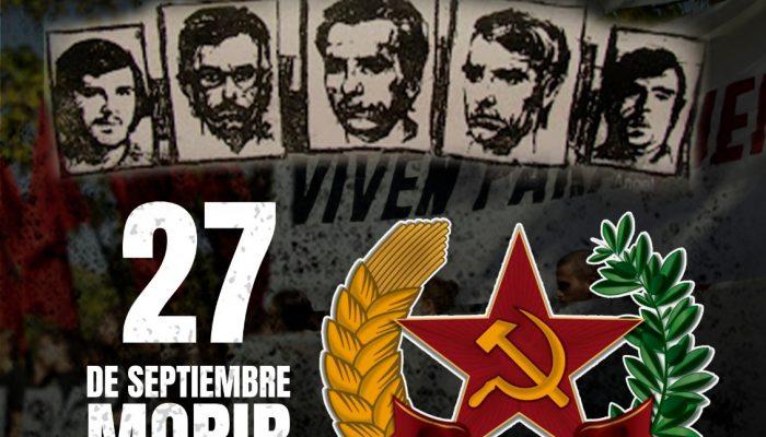 Homenaje últimos Fusilados Del Franquismo – 27S Madrid