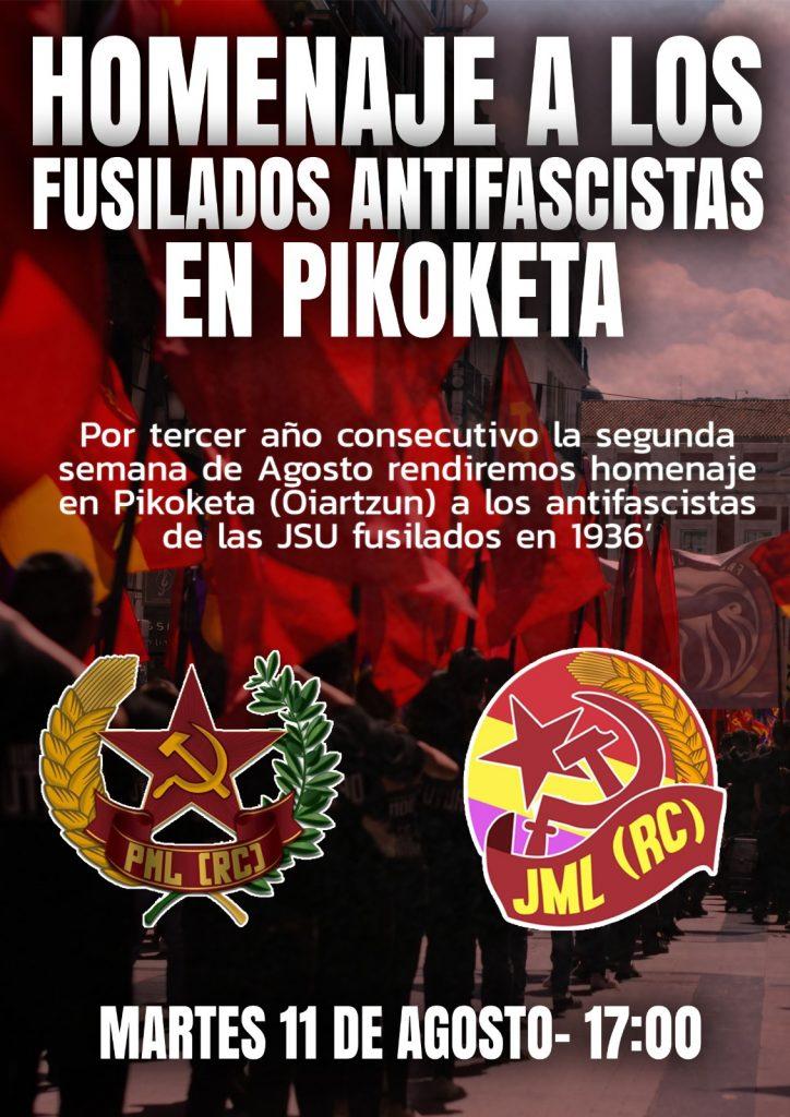 homenaje fusilados antifascistas pikoketa
