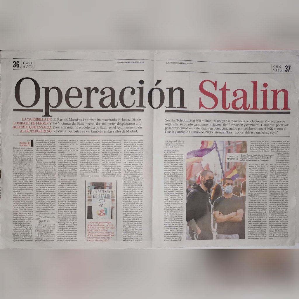 vox denuncia al PML(RC) El Mundo Operación Stalin